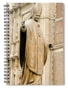Statue Of Pope John Paul II Spiral Notebook