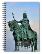 Statue Of St Stephen Hungary King Spiral Notebook