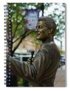 Statue Of Us President Bill Clinton Spiral Notebook