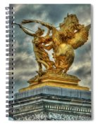 Statue On Pont Alexandre IIi Spiral Notebook
