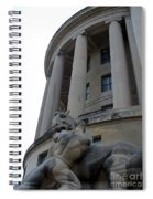Statue Outside Of Federal Trade Commission Spiral Notebook