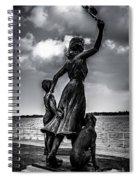 Statue St Clair Mi Spiral Notebook