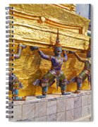 Statues At A Temple, Wat Phra Kaeo Spiral Notebook