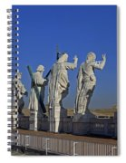 Statues On Facade Of St Peters Spiral Notebook