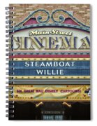 Steam Boat Willie Signage Main Street Disneyland 01 Spiral Notebook