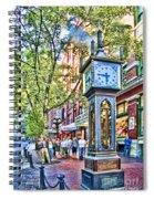 Steam Clock In Vancouver Gastown Spiral Notebook