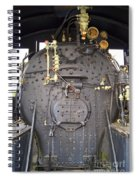 Steam Engine 444 Fire Box And The Controls Spiral Notebook