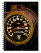 Steam Engine Gauge Spiral Notebook