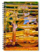 Steam Engine Linkage 3 Spiral Notebook