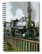 Steam Engine Locomotive Spiral Notebook