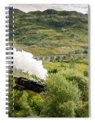 Steam Engine On Glenfinnan Viaduct Spiral Notebook