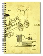 Steam Engine Patent 1869 Spiral Notebook