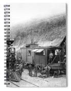 Steam Locomotive And Steam Shovel 1882 Spiral Notebook
