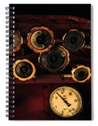Rare Steam Locomotive Engine Cab Knobs And Controls Spiral Notebook