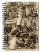 Steam Power Sepia Vignette Spiral Notebook