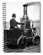 Steam Powered Rail Cart C. 1892 Spiral Notebook