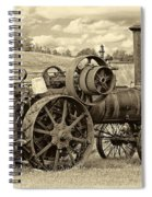 Steam Powered Tractor Sepia Spiral Notebook