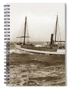 steam-schooner Elizabeth circa 1914 Spiral Notebook