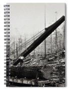 Steam Loader Loading Logs C. 1890 Spiral Notebook