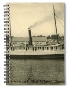 Steamer Eureka At Old Whaf Santa Cruz California Circa 1907 Spiral Notebook