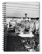 Steamer Interior, C1867 Spiral Notebook