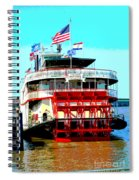 Steamer Natchez Paddleboat Spiral Notebook