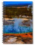 Steaming Rainbow Spiral Notebook