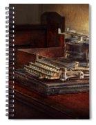 Steampunk - A Crusty Old Typewriter Spiral Notebook