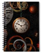 Steampunk - Abstract - The Beginning And End Spiral Notebook