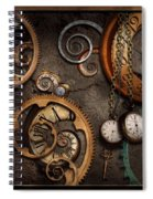 Steampunk - Abstract - Time Is Complicated Spiral Notebook