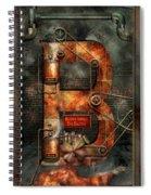Steampunk - Alphabet - B Is For Belts Spiral Notebook