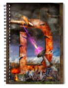 Steampunk - Alphabet - D Is For Death Ray Spiral Notebook