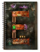 Steampunk - Alphabet - E Is For Electricity Spiral Notebook