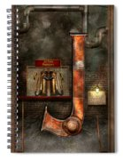 Steampunk - Alphabet - J Is For Jet Pack Spiral Notebook