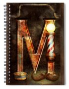 Steampunk - Alphabet - M Is For Mustache Spiral Notebook