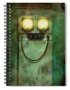 Steampunk - Be Happy Spiral Notebook