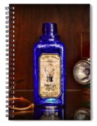 Steampunk Bottled Light Spiral Notebook
