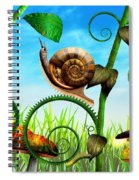 Steampunk - Bugs - Evolution Take Time Spiral Notebook