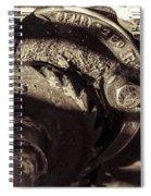 Steampunk Cable Car Brake Spiral Notebook