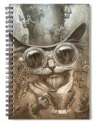 Steampunk Cat Spiral Notebook