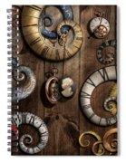 Steampunk - Clock - Time Machine Spiral Notebook