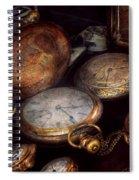 Steampunk - Clock - Time Worn Spiral Notebook