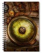 Steampunk - Creepy - Eye On Technology  Spiral Notebook