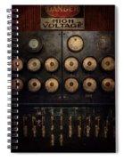 Steampunk - Electrical - Center Of Power Spiral Notebook