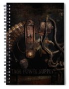 Steampunk - Electrical - Rotary Switch Spiral Notebook