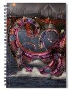 Steampunk - Enteroctopus Magnificus Roboticus Spiral Notebook