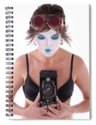Steampunk Geisha Photographer II Spiral Notebook