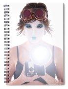 Steampunk Geisha Photographer Spiral Notebook