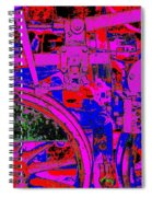 Steampunk Iron Horse No. 4 Spiral Notebook
