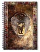 Steampunk - Locksmith - The Key To My Heart Spiral Notebook